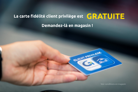 photo carte de fidelite client privilege groupauto mesnil accessoires ile de france